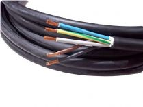 5metre cutting of 5 core 6mm H07RN-F rubber flexible cable